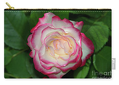 Cherry Parfait Rose Carry-all Pouch by Glenn Franco Simmons