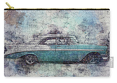 Carry-all Pouch featuring the photograph Chevy Bel Air by Joel Witmeyer