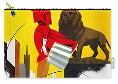 Chicago Vintage Travel Poster Restored Carry-all Pouch by Carsten Reisinger