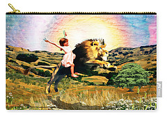 Carry-all Pouch featuring the digital art Child Like Faith by Dolores Develde