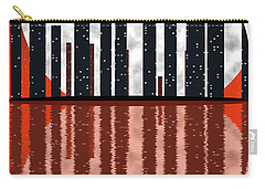 City Skyline At Full Moon Carry-all Pouch by Michal Boubin