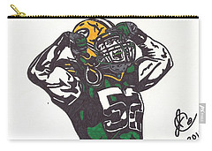 Carry-all Pouch featuring the drawing Clay Matthews 2 by Jeremiah Colley