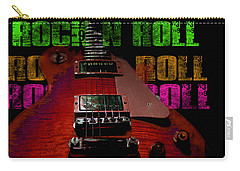 Carry-all Pouch featuring the photograph Colorful Music Rock N Roll Guitar Retro Distressed by Guitar Wacky