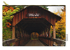 Covered Bridge At Allegany State Park Carry-all Pouch