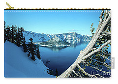 Crater Lake Winterscape Carry-all Pouch by Nick Boren
