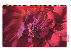 Carry-all Pouch featuring the photograph Dahlia 'wyn's King Salmon' by Ann Jacobson