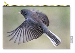 Dark Eyed Junco Flying Carry-all Pouch
