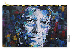 Carry-all Pouch featuring the painting David Bowie by Richard Day