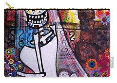 Carry-all Pouch featuring the painting Day Of The Dead Bride by Pristine Cartera Turkus