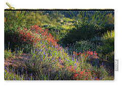 Carry-all Pouch featuring the photograph Desert Wildflowers  by Saija Lehtonen