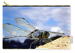 Dragonfly On A Mushroom 001  Carry-all Pouch