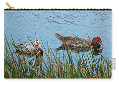 Carry-all Pouch featuring the photograph 2- Ducks by Joseph Keane