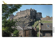 Carry-all Pouch featuring the photograph Edinburgh Castle In Scotland by Jeremy Lavender Photography
