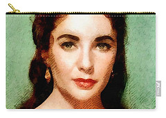 Elizabeth Taylor Hollywood Actress Carry-all Pouch