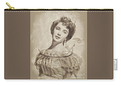 Elizabeth Taylor, Vintage Hollywood Legend By John Springfield Carry-all Pouch by John Springfield