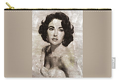 Elizabeth Taylor, Vintage Hollywood Legend By Mary Bassett Carry-all Pouch by Mary Bassett