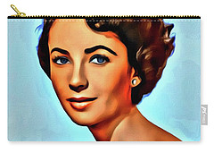 Elizabeth Taylor, Vintage Hollywood Legend Carry-all Pouch by Mary Bassett
