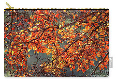 Carry-all Pouch featuring the photograph Fall Leaves by Nicholas Burningham