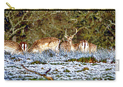 Fallow Deer In England Carry-all Pouch by Chris Smith
