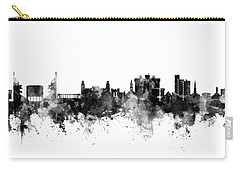 Carry-all Pouch featuring the digital art Fayetteville Arkansas Skyline by Michael Tompsett