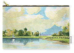 Fishing Lake Carry-all Pouch by Alban Dizdari