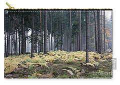 Fog In The Forest With Ferns Carry-all Pouch by Michal Boubin
