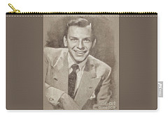 Frank Sinatra Hollywood Singer And Actor Carry-all Pouch by John Springfield