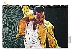 Carry-all Pouch featuring the digital art Freddie Mercury by Taylan Apukovska
