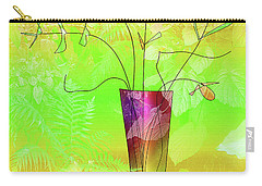 Garden Vase Carry-all Pouch by Iris Gelbart