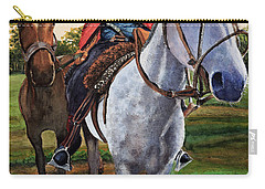 Carry-all Pouch featuring the painting Gaucho Argentino by Bernardo Galmarini