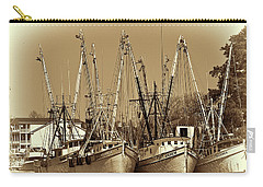 Carry-all Pouch featuring the photograph Georgetown Shrimpers by Bill Barber