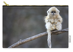 Golden Snub-nosed Monkey Rhinopithecus Carry-all Pouch by Cyril Ruoso