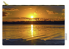 Golden Sunrise Waterscape Carry-all Pouch