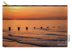 Carry-all Pouch featuring the photograph Golden Sunset by Adrian Evans