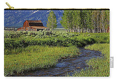 Grand Tetons And Barn Carry-all Pouch by Anthony Dezenzio