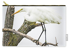 Carry-all Pouch featuring the photograph Great Egret by Ricky L Jones