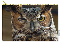 Great Horned Owl Carry-all Pouch by John Black