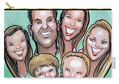 Group Caricature Carry-all Pouch