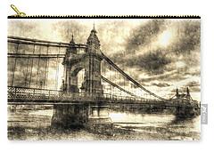 Hammersmith Bridge London Vintage Carry-all Pouch