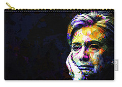 Hillary Clinton Carry-all Pouch by Svelby Art