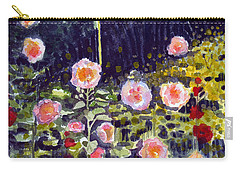 Hollyhocks Carry-all Pouch by Katherine Miller