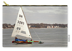 Ice Sailing - Madison, Wisconsin Carry-all Pouch