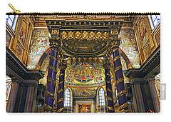 Interior View Of The Basilica Di Santa Maria Maggiore In Rome Italy Carry-all Pouch