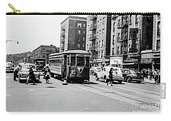 Carry-all Pouch featuring the photograph Inwood Trolley  by Cole Thompson