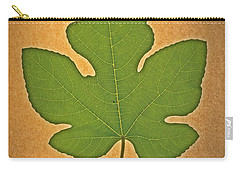 Carry-all Pouch featuring the photograph Italian Honey Fig Leaf by Frank Wilson