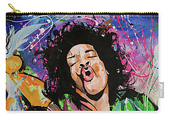 Jimi Hendrix Carry-all Pouch by Richard Day