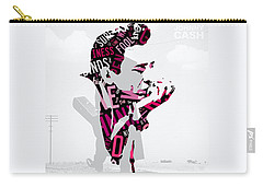 Johnny Cash Song Lyric I Walk The Line Carry-all Pouch