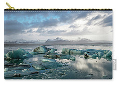 Carry-all Pouch featuring the photograph Jokulsarlon, The Glacier Lagoon, Iceland 3 by Dubi Roman