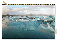 Carry-all Pouch featuring the photograph Jokulsarlon The Glacier Lagoon, Iceland 2 by Dubi Roman