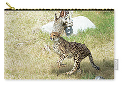Carry-all Pouch featuring the photograph Jump by Fraida Gutovich